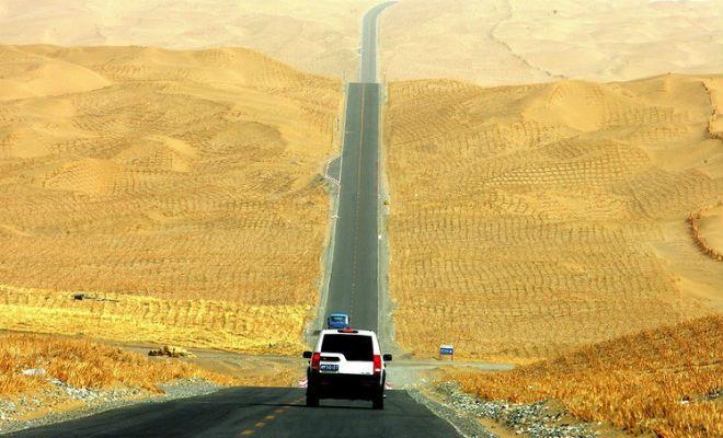 Таримское шоссе: зачем китайцам 500 км дороги посреди голой пустыни
