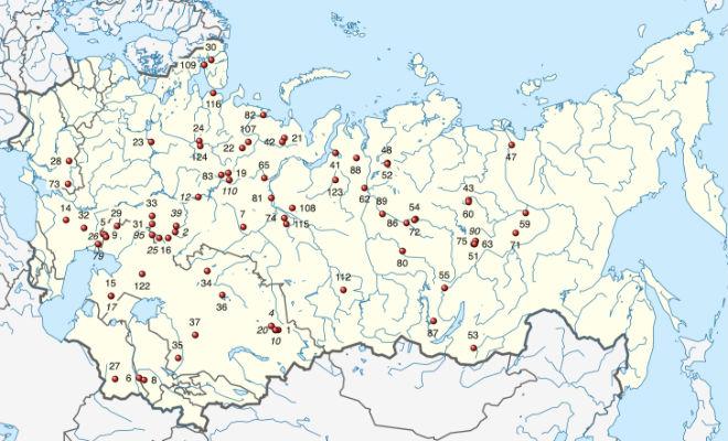 Карта ядерных взрывов в СССР: документ, который был засекречен