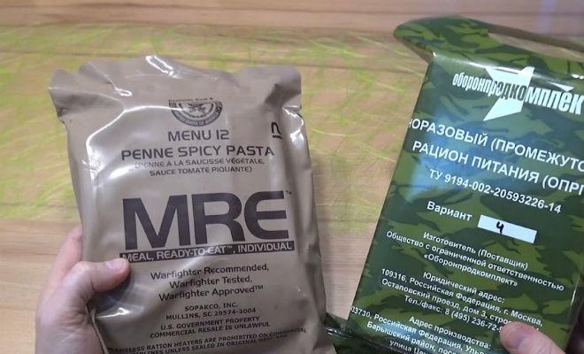 Что едят в армии России и армии США: сравнение рациона