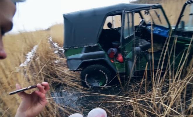 Вытащили технику браконьеров из болота